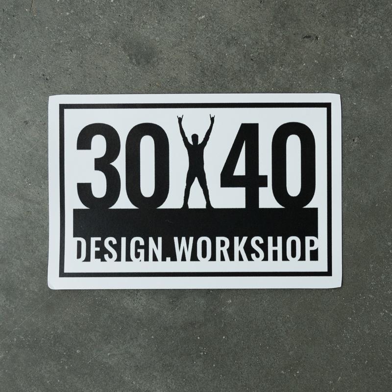 30X40 Logo Architect Arms Raised, Die-Cut Sticker