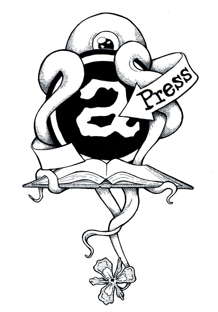 Promotional drawing for Astrophil Press pen & ink/digital  http://www.astrophilpress.com/