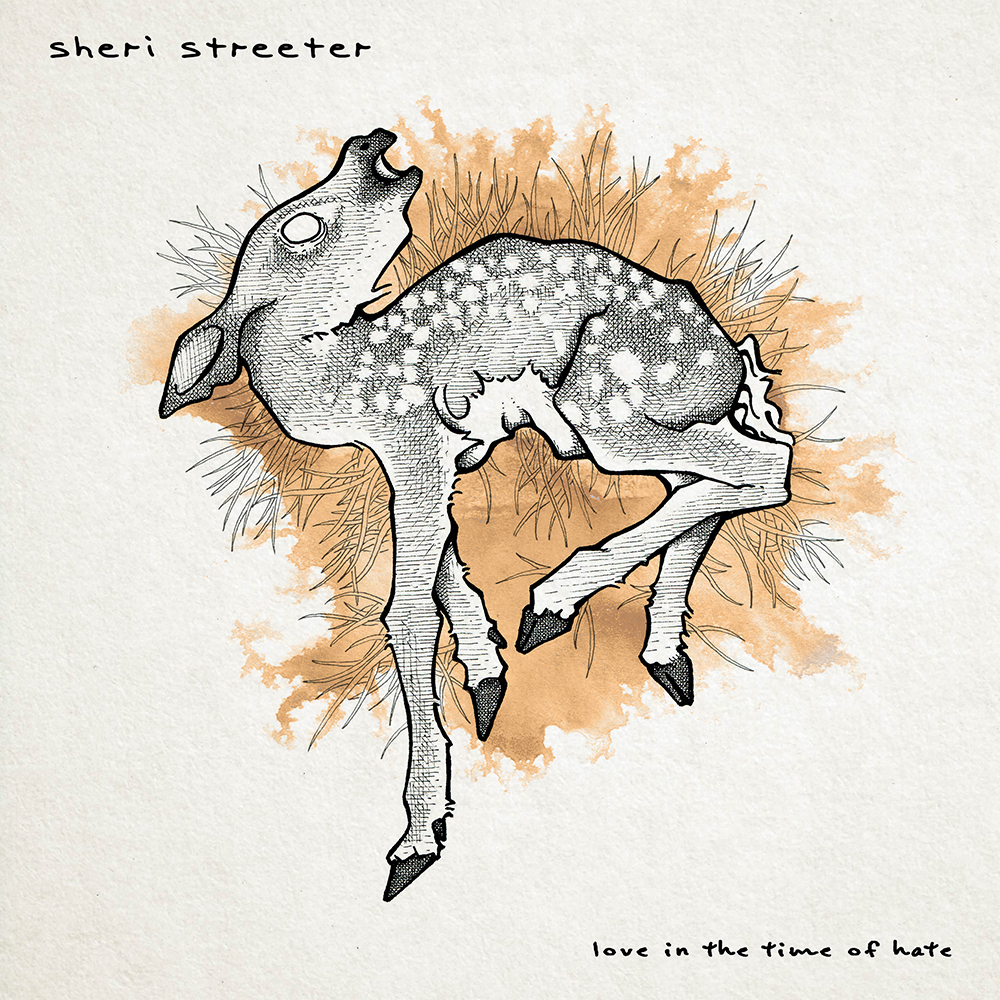 "Cover drawing for Sheri Streeter's single ""Love in the Time of Hate""  https://sheristreeter.bandcamp.com/track/love-in-the-time-of-hate"