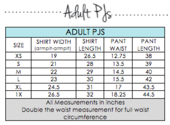 blossom blanks - adult PJ size chart.png