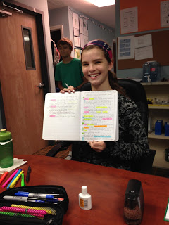 Take the notes... - ...Highlight the notes, internalize the notes... Just another day in Middle School.