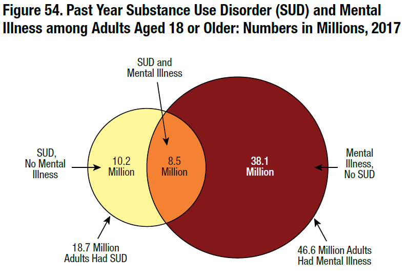 Substance Abuse and Mental Health Services Administration. (2018).  Key substance use and mental health indicators in the United States: Results from the 2017 National Survey on Drug Use and Health  (HHS Publication No. SMA 18-5068, NSDUH Series H-53). Rockville, MD: Center for Behavioral Health Statistics and Quality, Substance Abuse and Mental Health Services Administration.