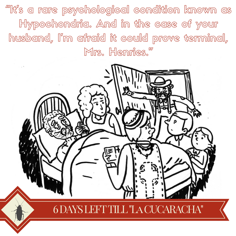 "From ""Posthumous Remarks From A Live Man"" -  La Cucaracha & Other Tales of Apocalyptic Revelry  by Michael Dominguez-Beddome -- Illustration by  Kevin Budnik"