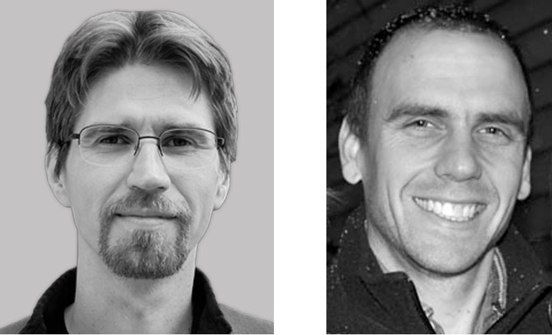 Maciej Maselko, Postdoctoral Scholar and Mike Smanski, Assistant Professor of Biochemistry in the Smanski Group at the University of Minnesota.