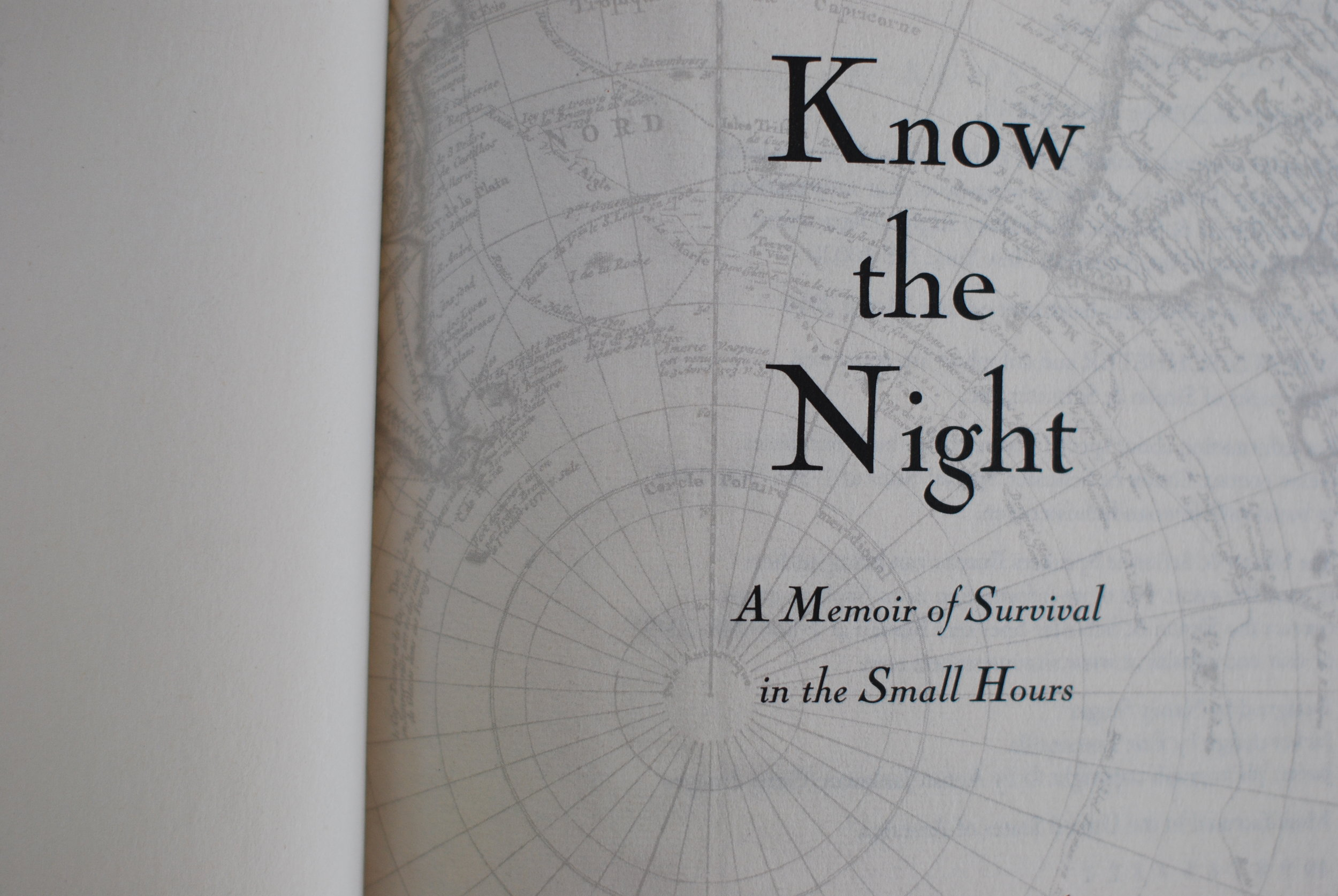 inside Know the Night by Maria Mutch