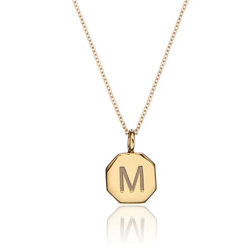4e587fa0c7fad Gold Personalised Hexagon Necklace — Lily & Roo