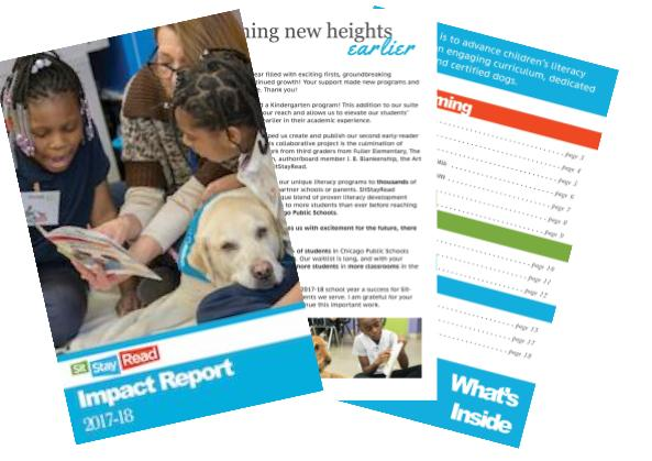 Our 2017-18 impact report is here! - Click here to see the entire report!