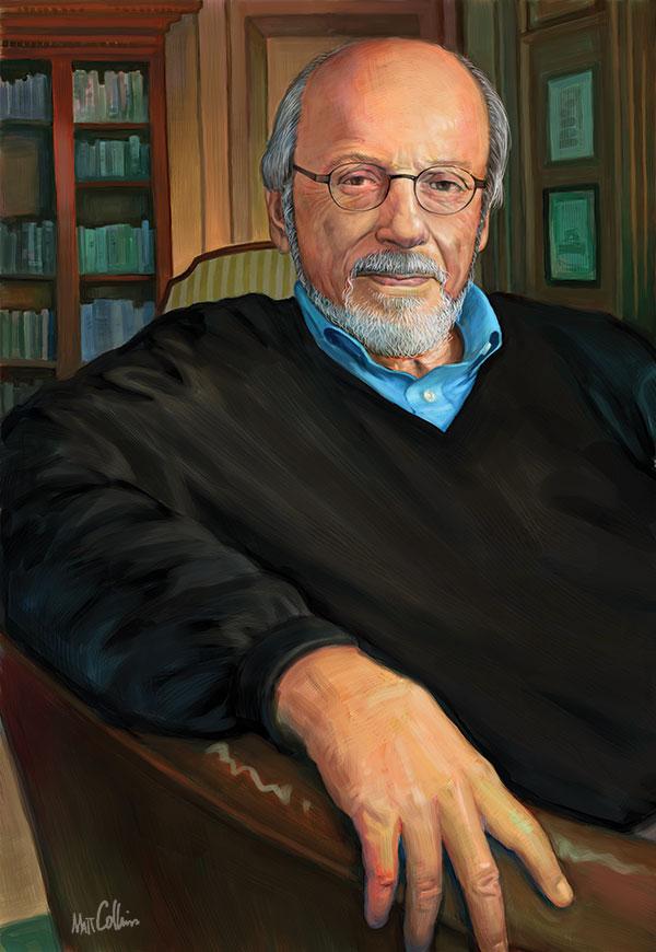 Portrait of E.L. Doctorow by Matt Collins