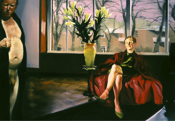 Krefeld Project; Living Room, Scene #2, 2002 Oil on linen 78 x 105 inches