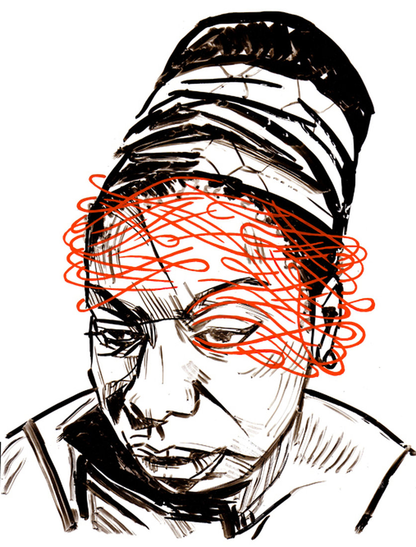 Nina Simone done in collaboration with Rodger Stevens for a Nina Simone series 9 x 12 inches