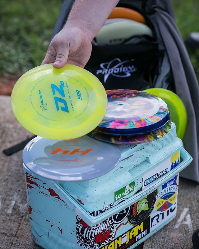 That feeling when you have a stack of new plastic just in time for the weekend 😁 ••• 📸 by @flexdg  #prodigydisc #poweredbyprodigy #throwprodigy #discgolf
