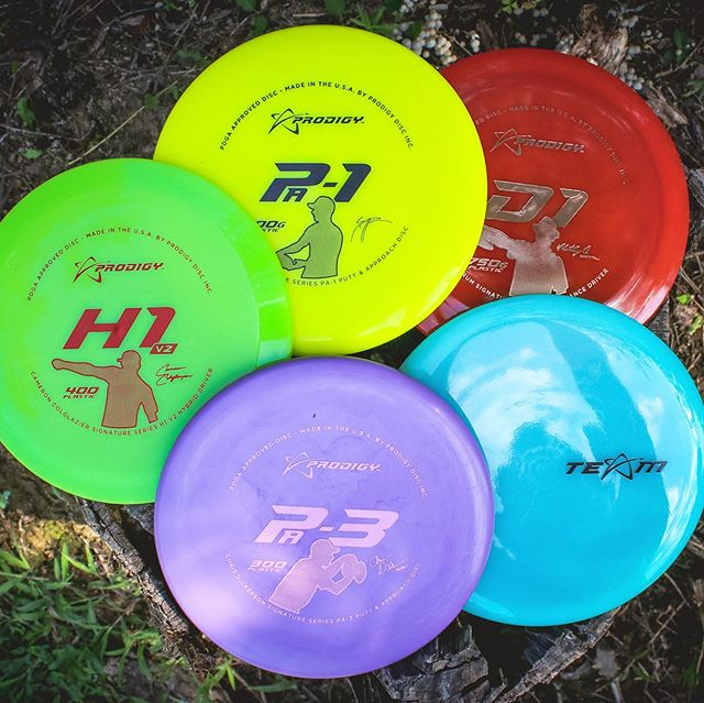 Show your support for the Prodigy Core Team by picking up a limited Signature Series set. These sets include 5 discs total: 4 Signature Series discs + 1 mystery TEAM stamped disc! TEAM stamped discs are normally reserved for our sponsored players, but we're offering a limited opportunity to get one for yourself while supporting some of your favorite Prodigy Pro's. ••• Hit the product tags or visit shop.prodigydisc.com to pick yours up! ••• #prodigydisc #poweredbyprodigy #throwprodigy #discgolf