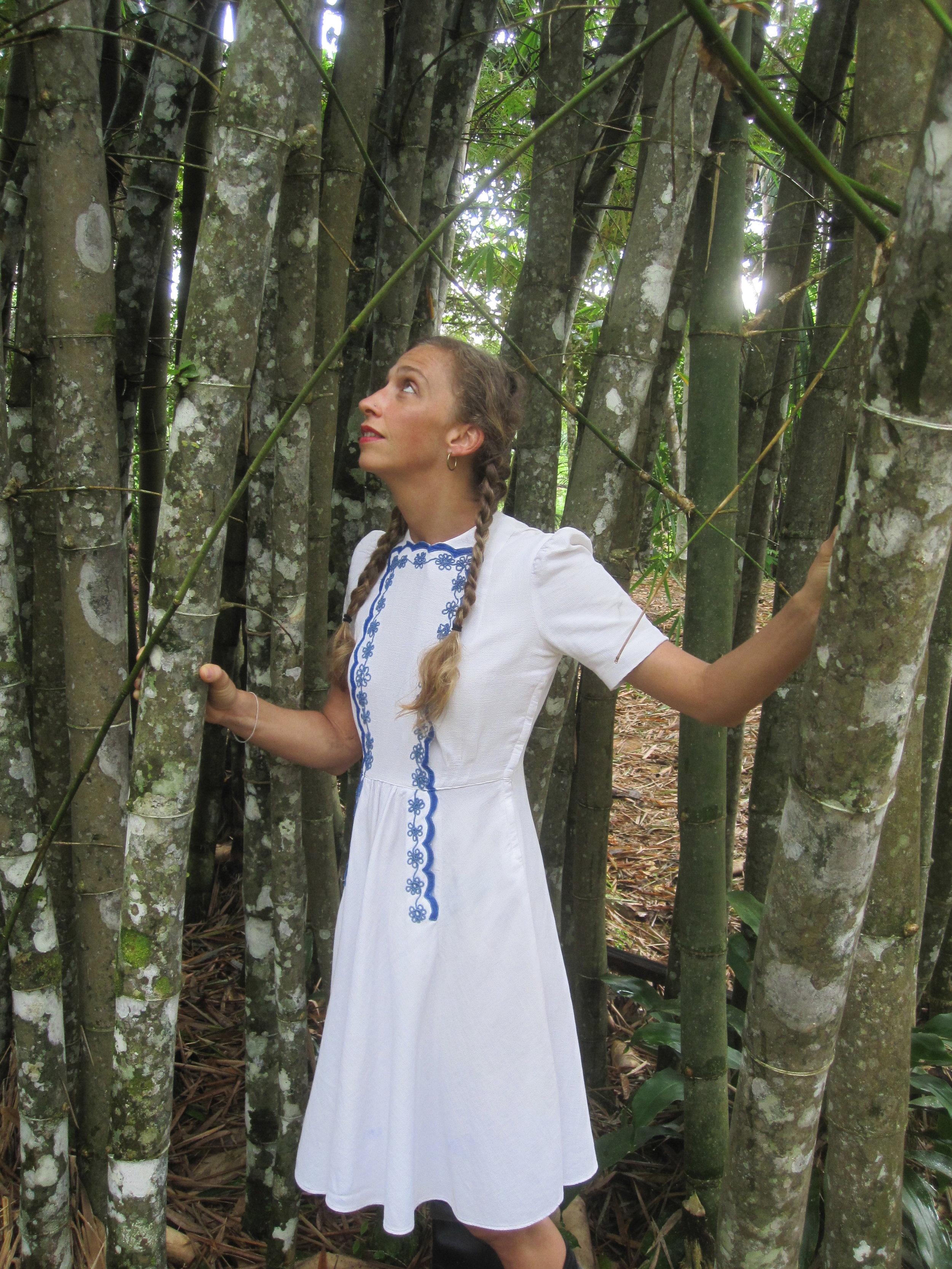 "Emily as ""Alice"", Amazon Rain Forest, Peru, 2011"