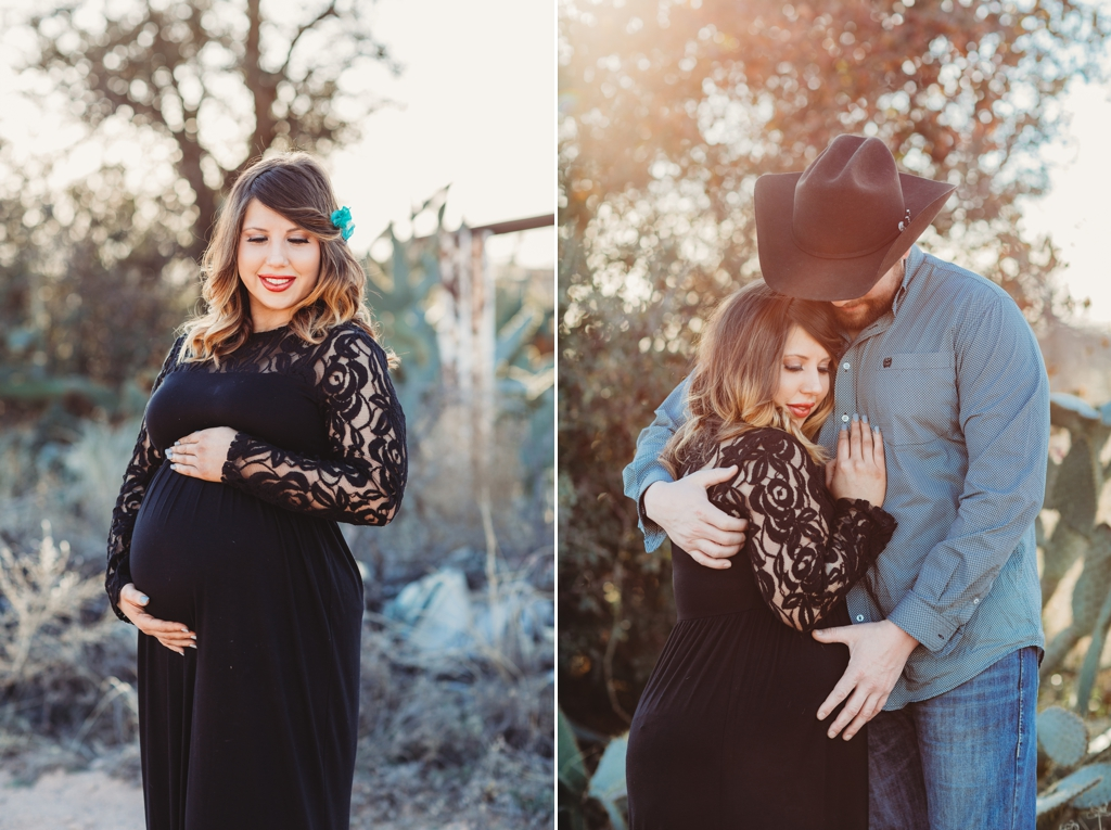 unique location for a maternity session in west texas