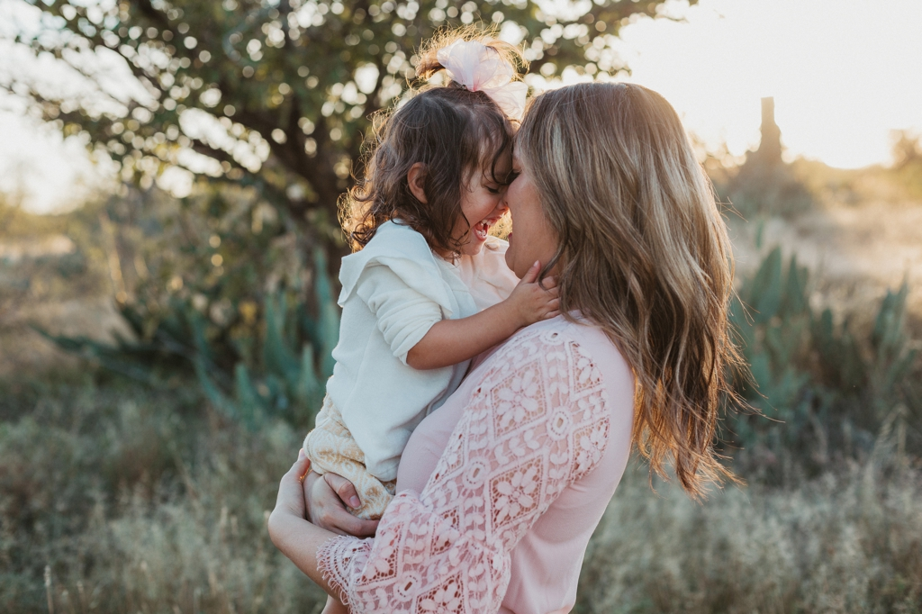 sunset mommy and me session midland texas