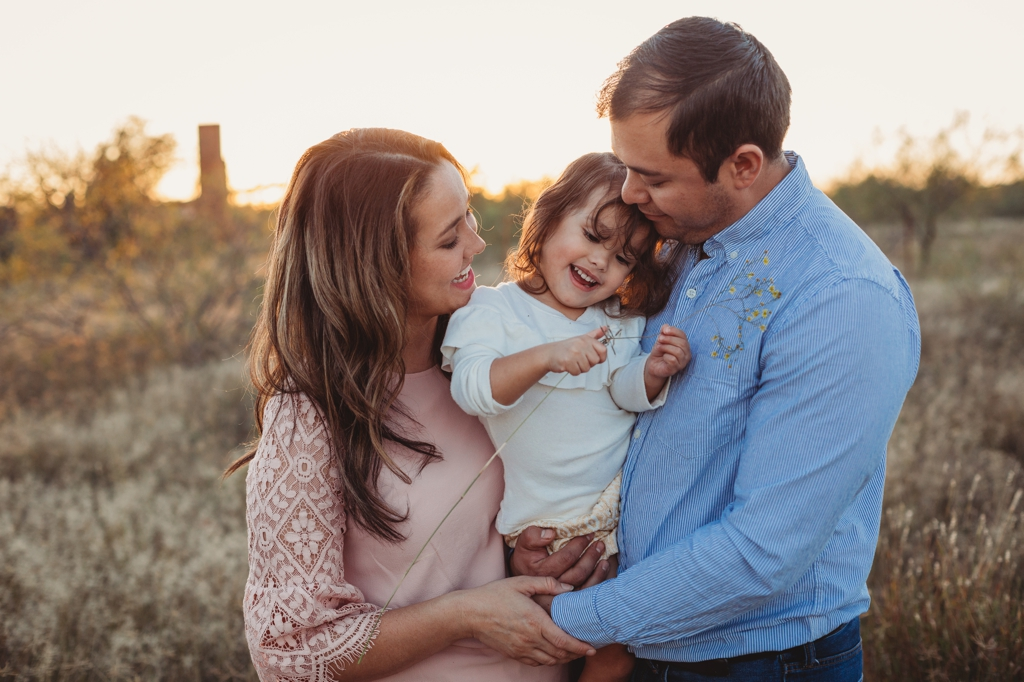 sunset outdoor family photography session odessa texas