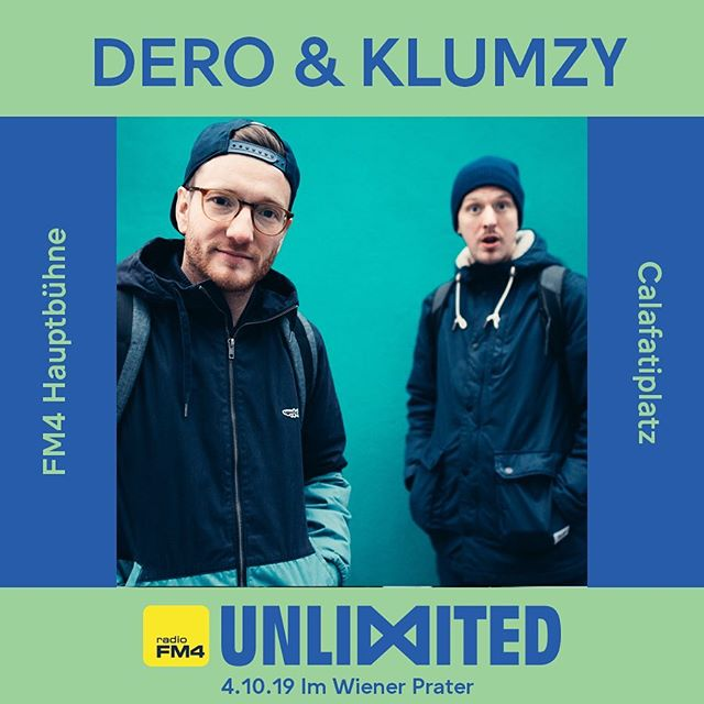 Pleased to announce we'll be playing at @fm4unlimited on October 4th in Vienna! 🙌 🎡 #deroandklumzy #fm4unlimited im #wienerprater @radiofm4
