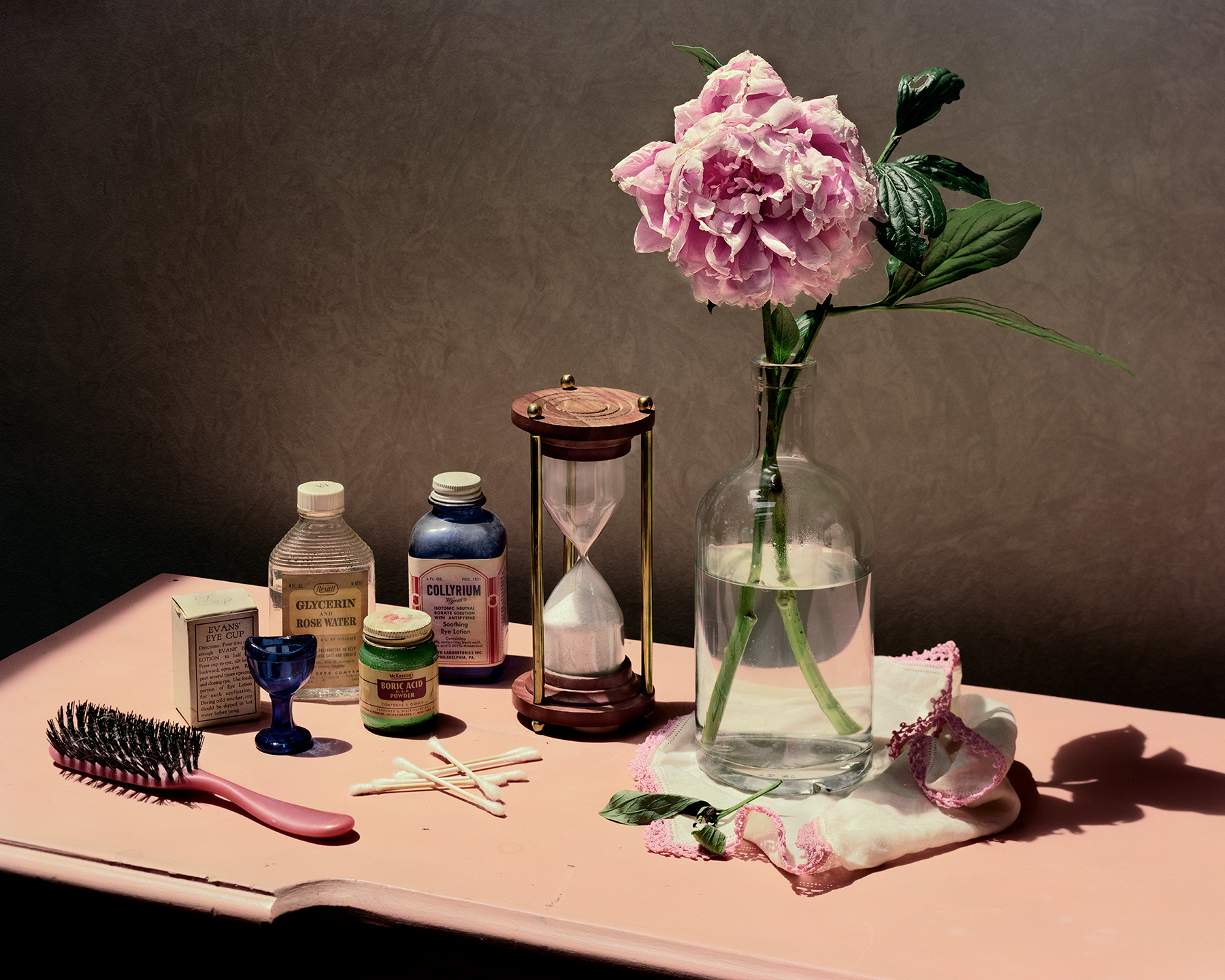 Still Life with Hourglass and Peony
