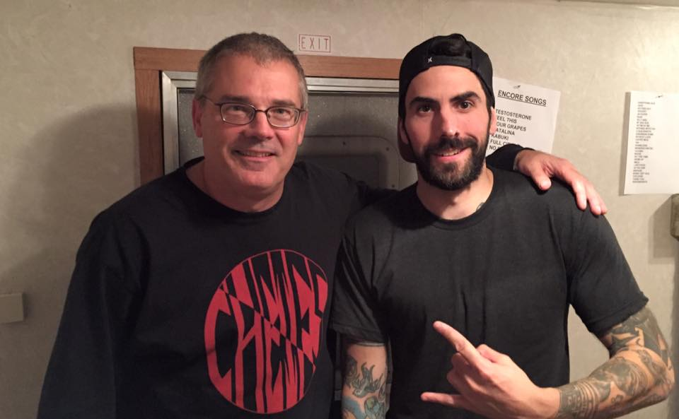 Milo Aukerman and Mike Damante backstage at the first Sound By Sound fest. (Mike Damante)