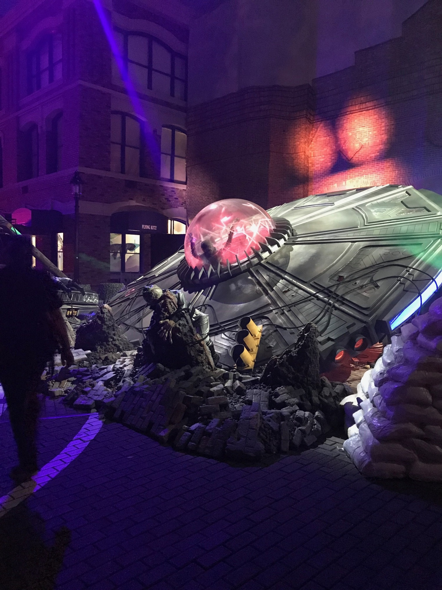 """The """"Invasion!"""" display at Halloween Horror Nights is straight out of your favorite science fiction movies. (Zach Christensen)"""