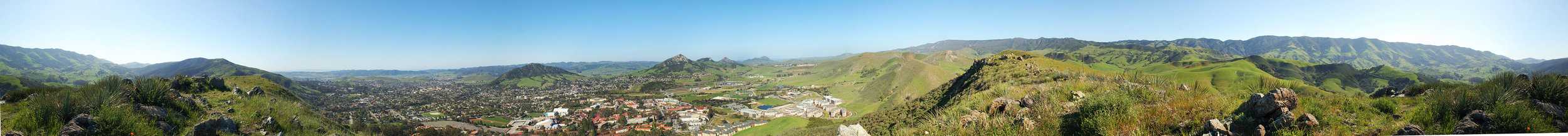 A 360° degree view of San Luis Obispo, image by Gregg M. Erickson