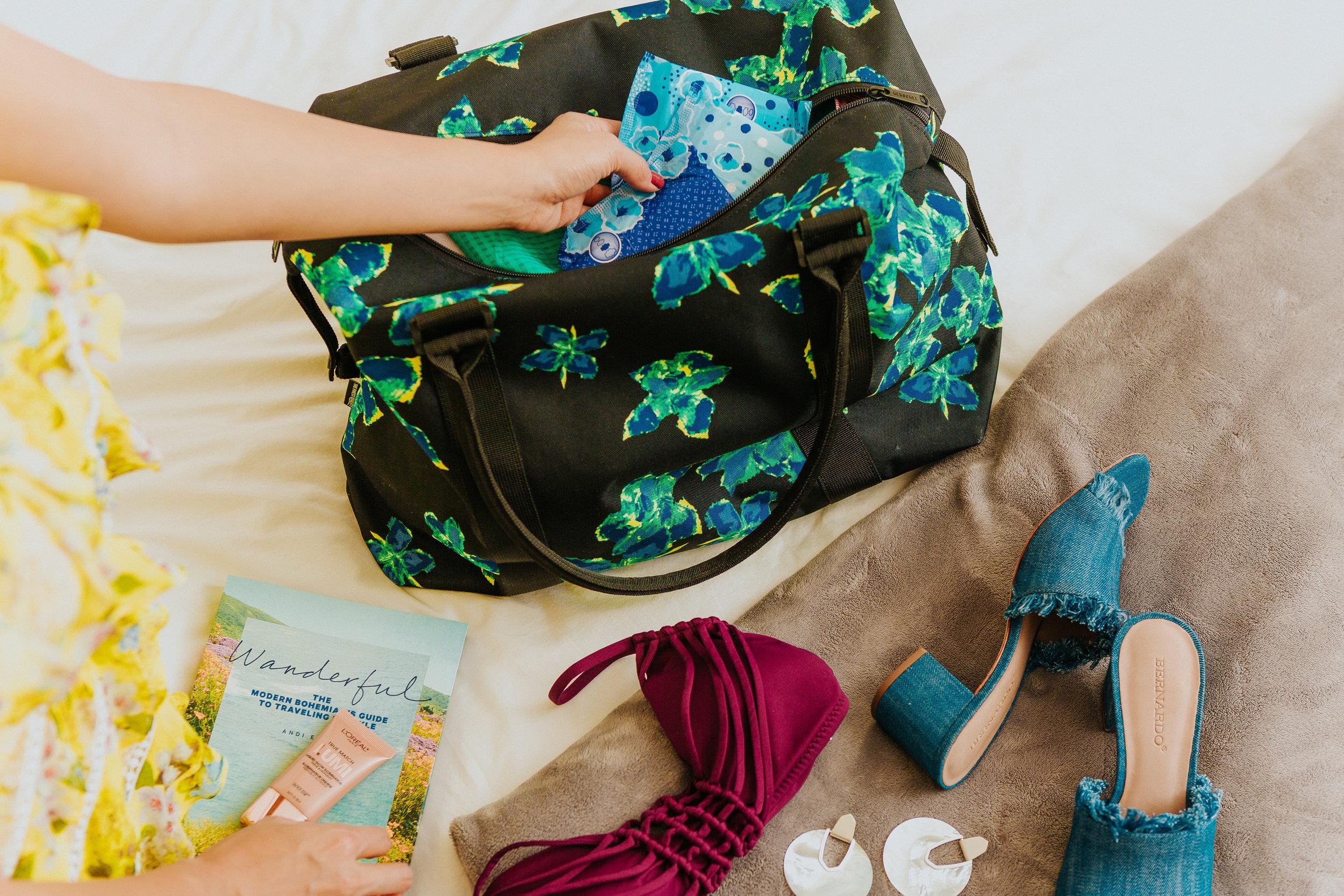 Melanie Sutrathada shares her weekend getaway must-haves including Always..jpg