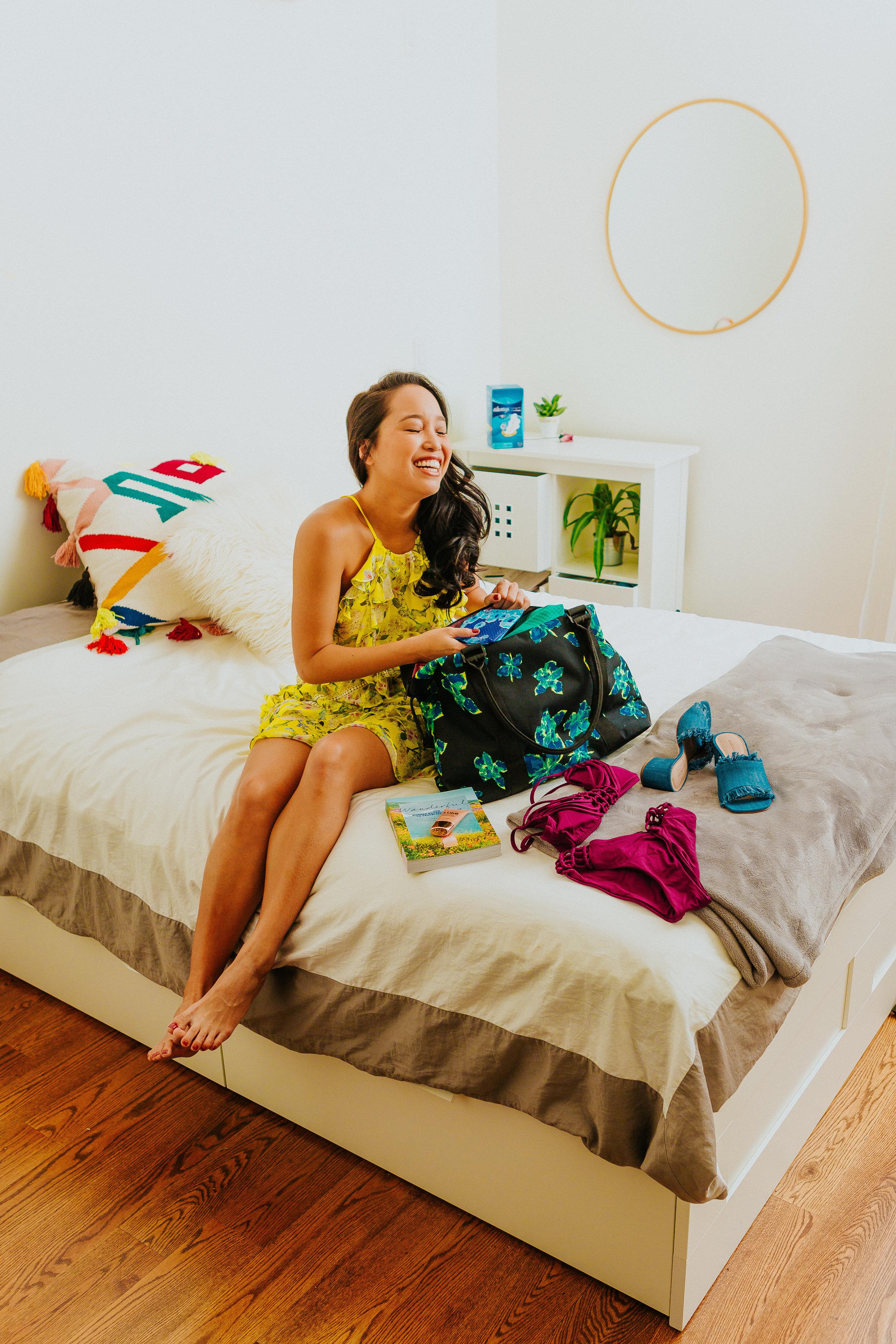 Melanie Sutrathada shares her weekend getaway must-haves including Always Infinity pads..jpg