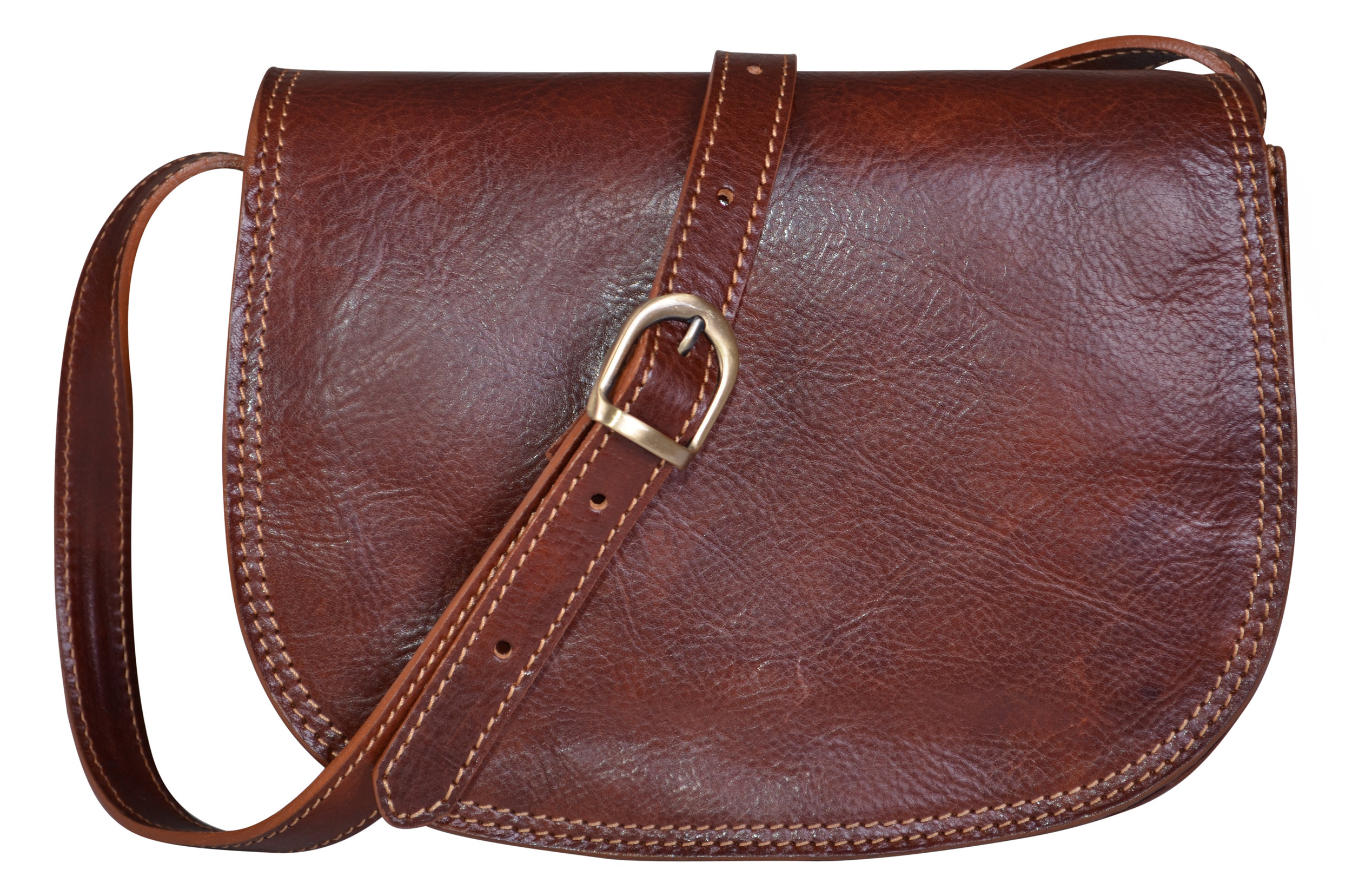 Bags & Arts Dark Brown Saddle Bag