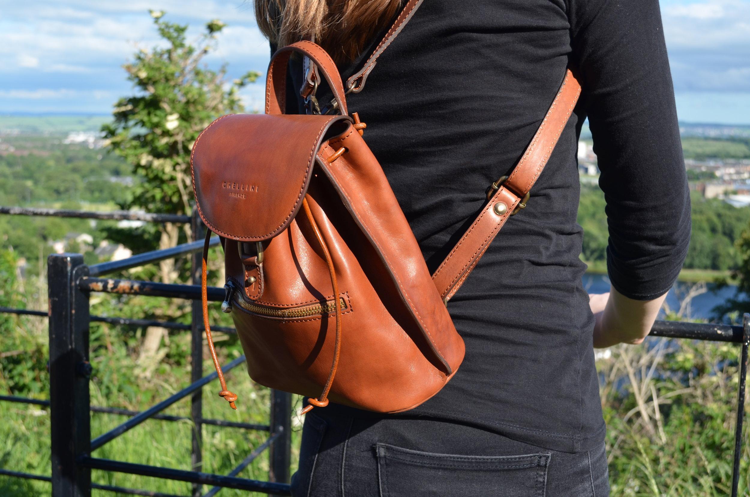 Chellini Firenze Luxury Italian Small Leather Backpack