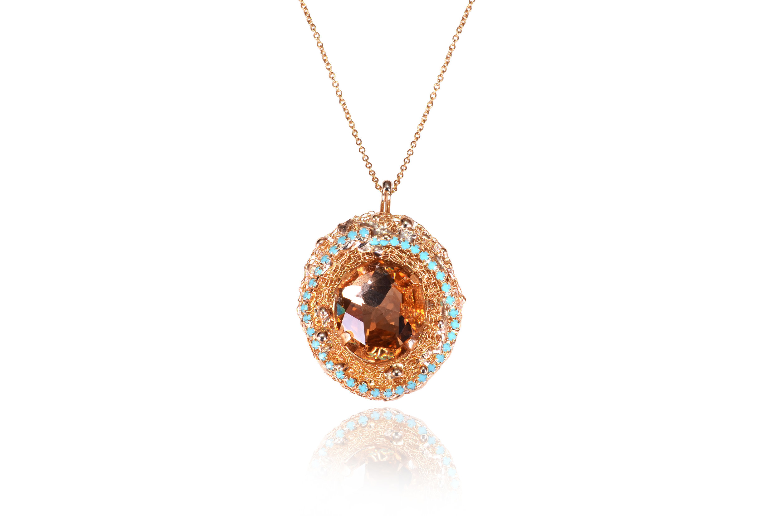 EVATCWQQP_2 - Evatini - Brown Topaz and Swarovski Strass Pendant - Italian Handmade Jewellery.jpg