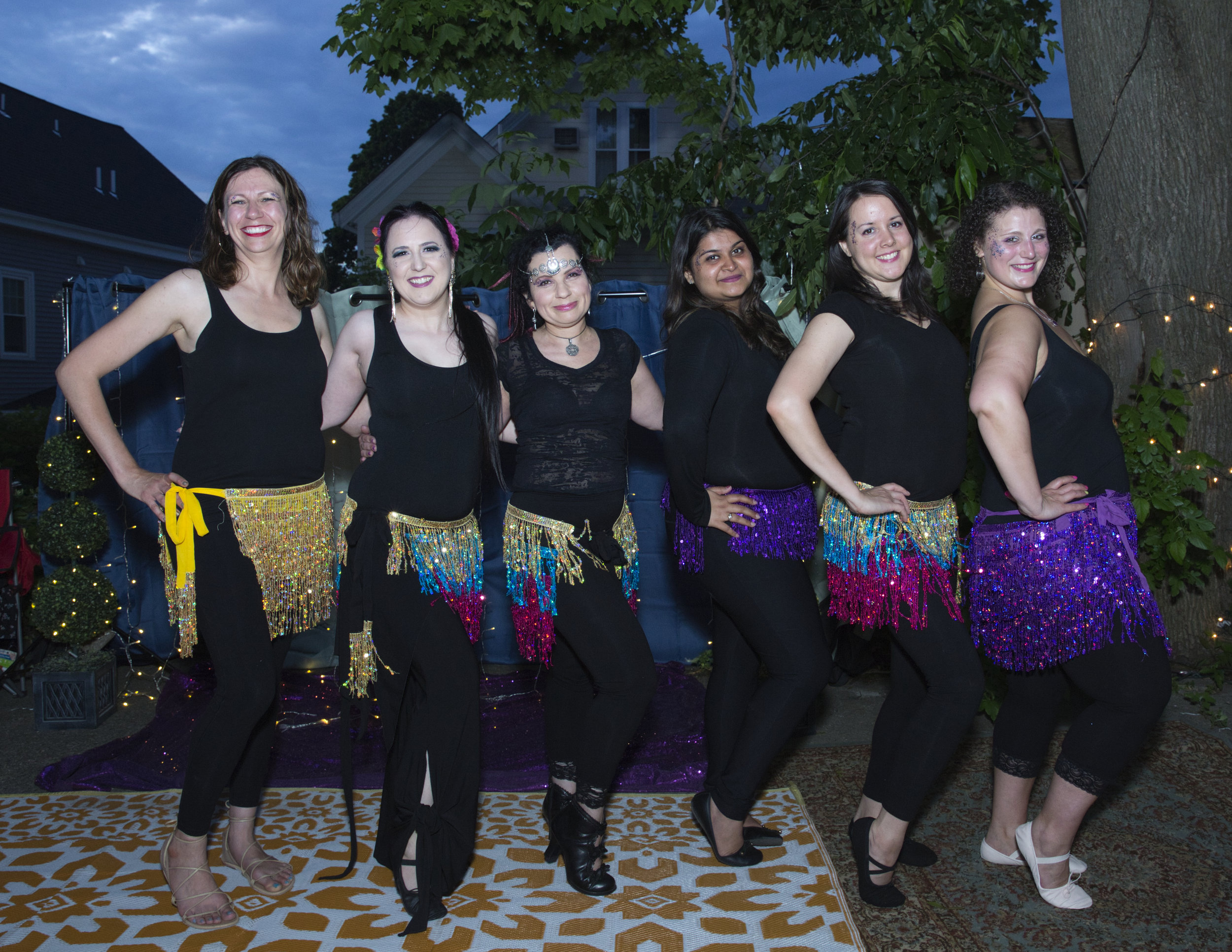 Andromeda's Belly Dancers at her annual Birthday Hafla 2019, photo by Mark Curelop