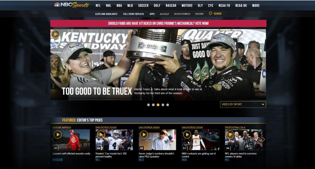 Teri Prestage-Miller, Senior Category Manager at Advance Auto Parts, featured on NBC Sports' home page.