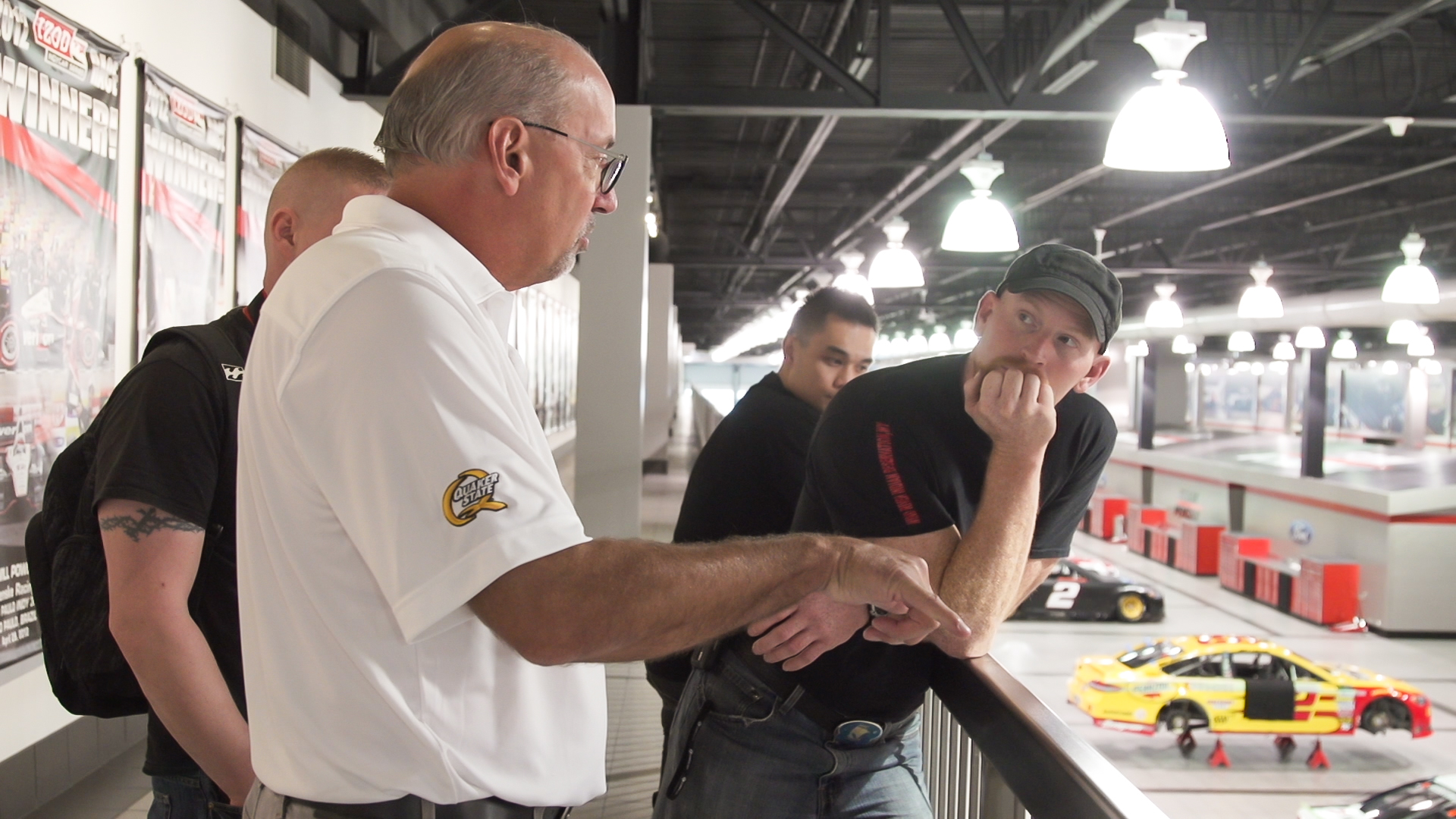 The digital influencers learn about Pennzoil technology in motorsports.