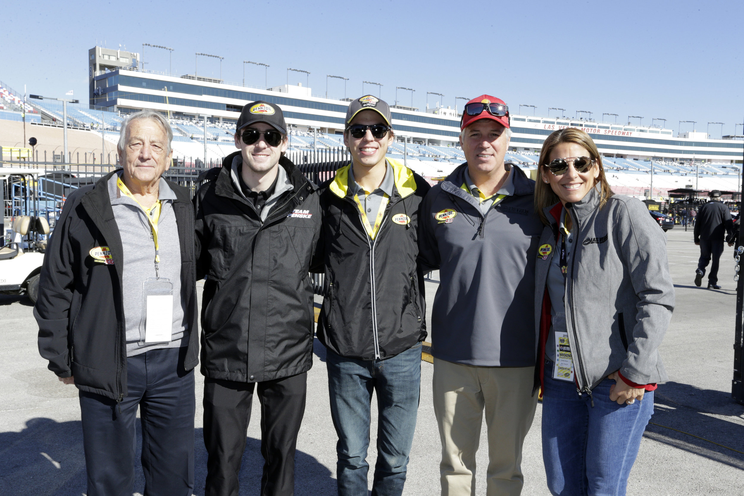 The Maurer family meets with Ryan Blaney ahead of the Pennzoil 400