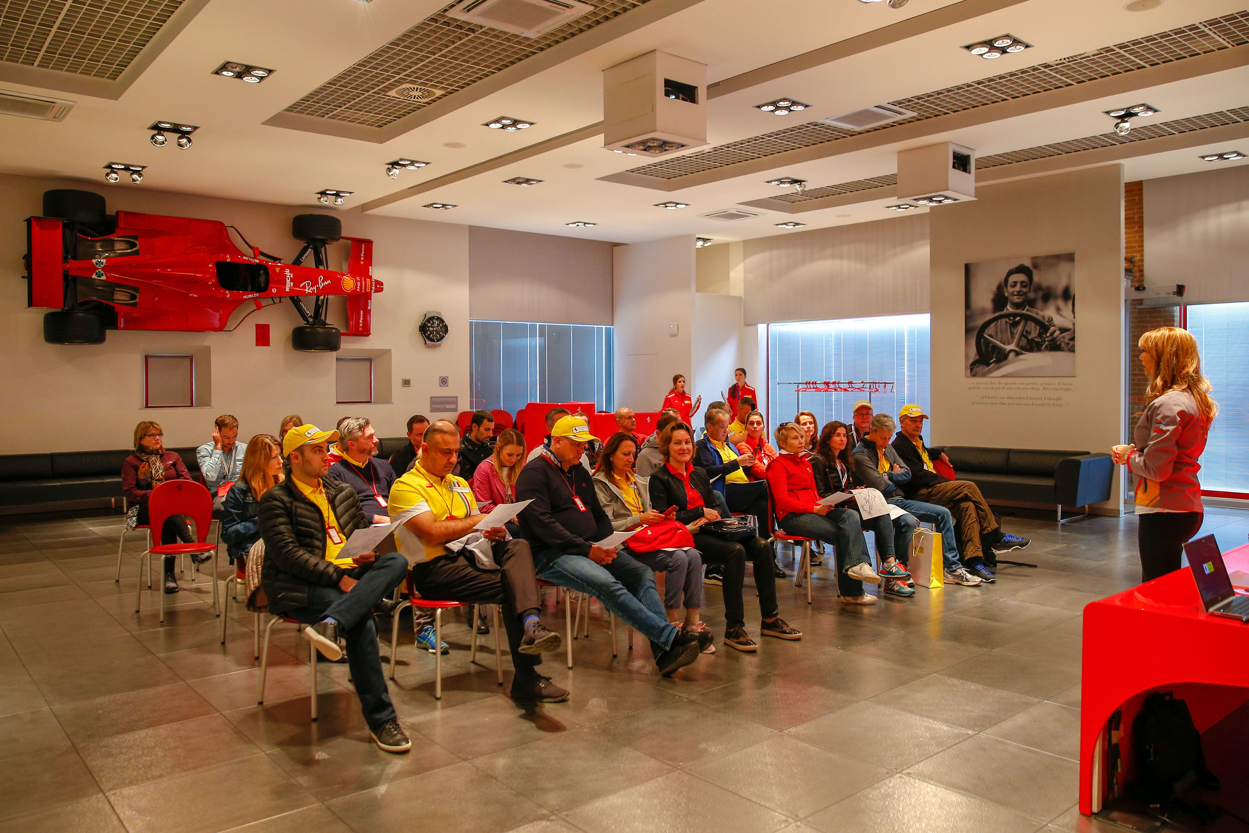 Driver orientation and safety meeting.
