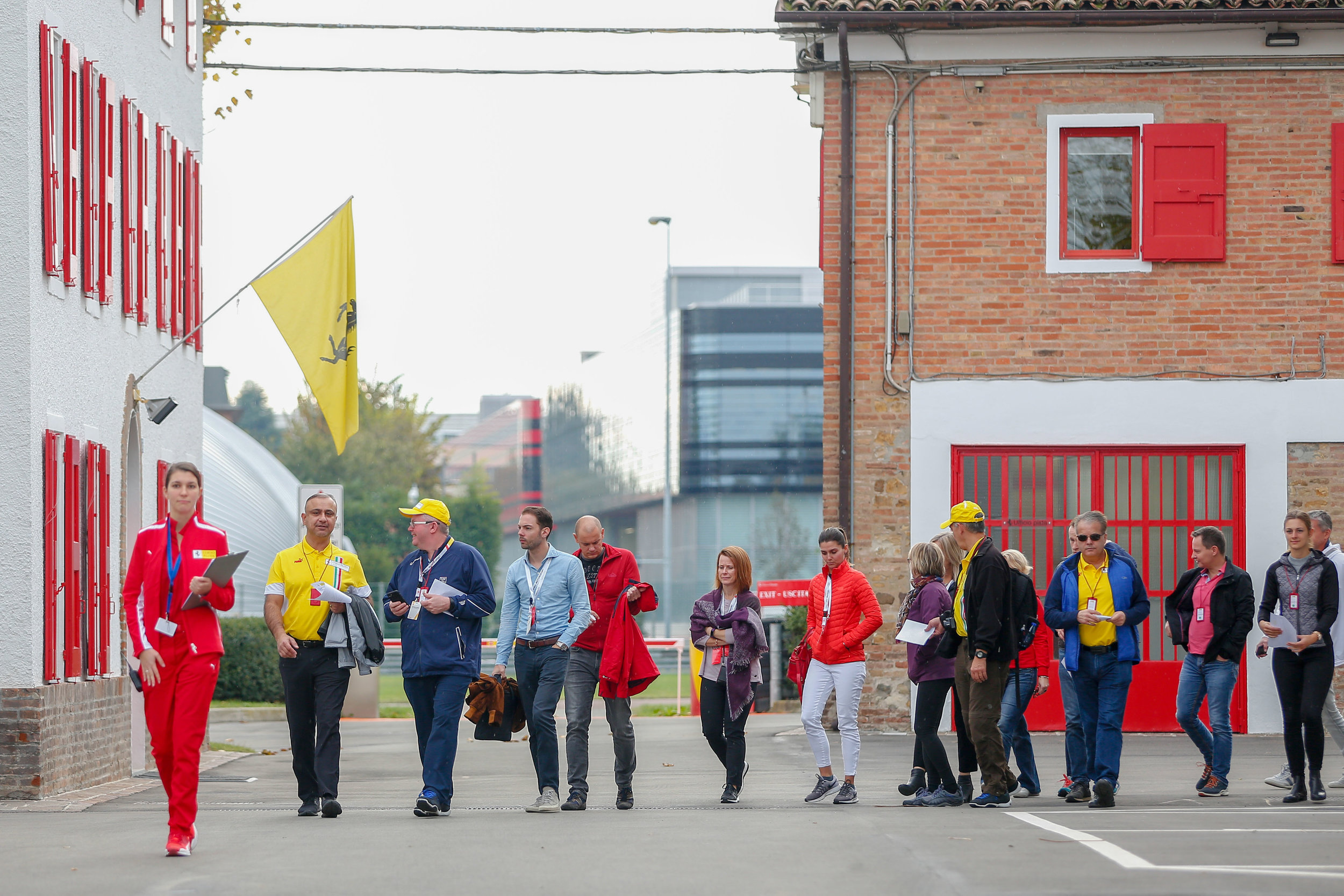 Our guests arriving onsite at Fiorano.