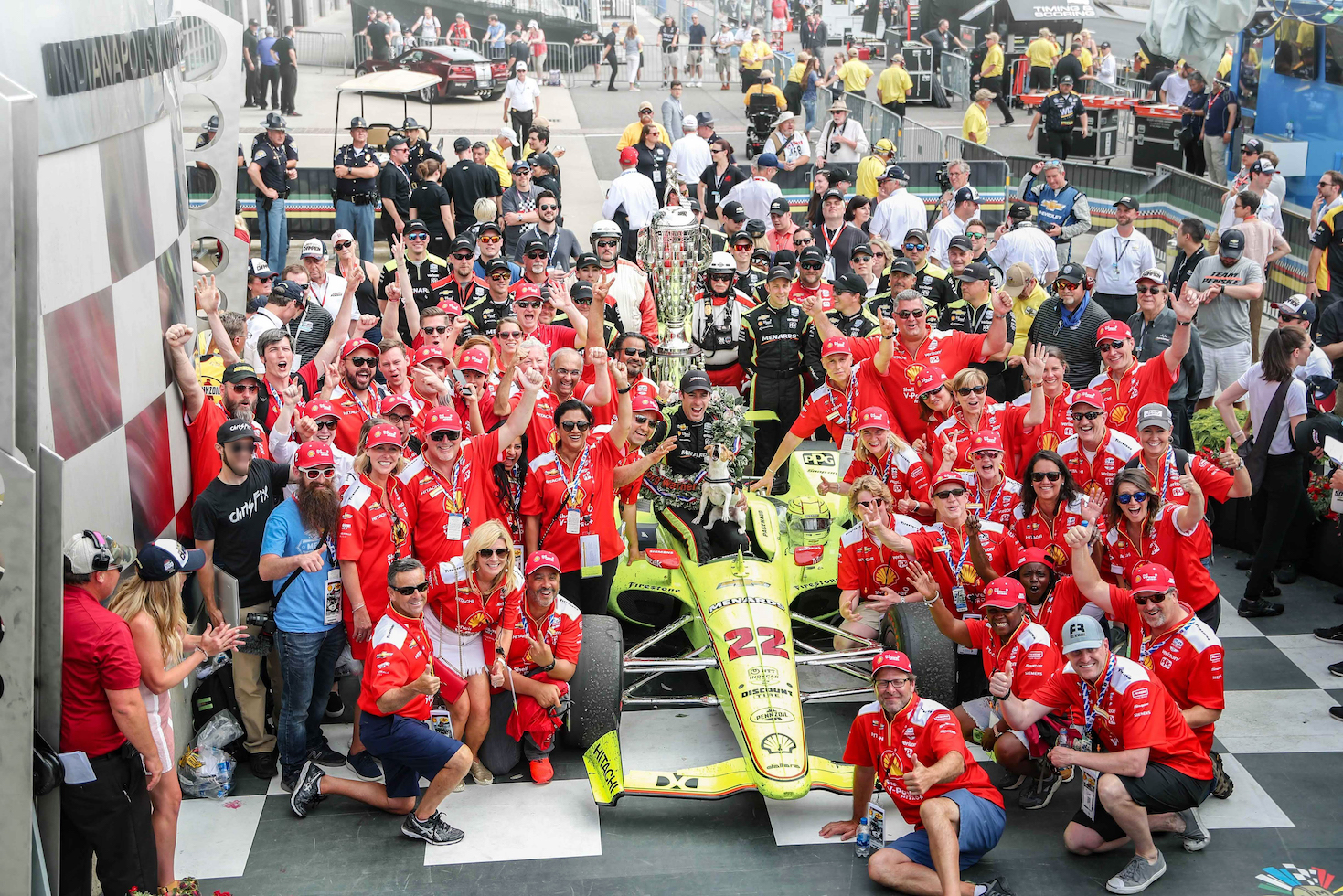 Victory Lane at the Indy 500.
