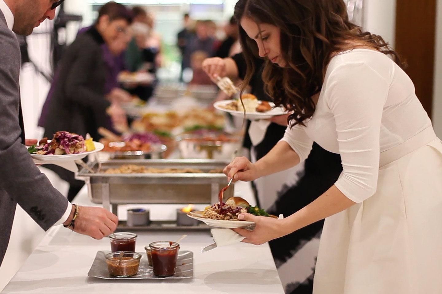 Wedding - We personalize offerings from rooftop hors d'oeuvres receptions, bountiful family-style farm dinners or a backyard BBQ rehearsal dinner.