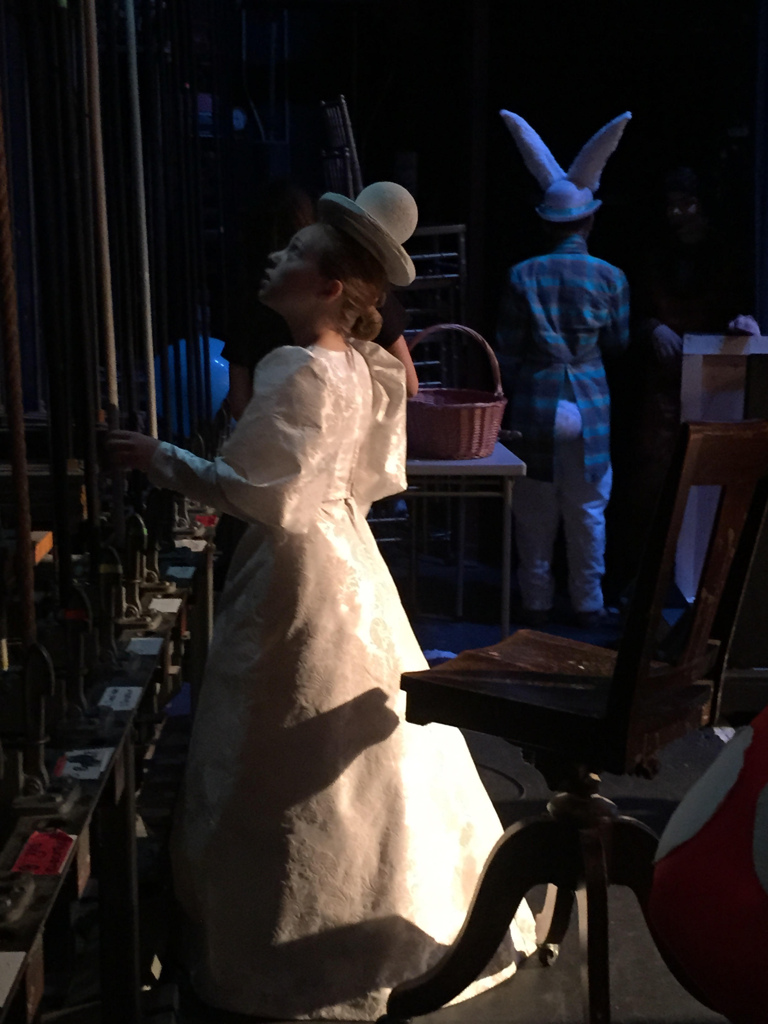 Chess Piece and Rabbit, Backstage