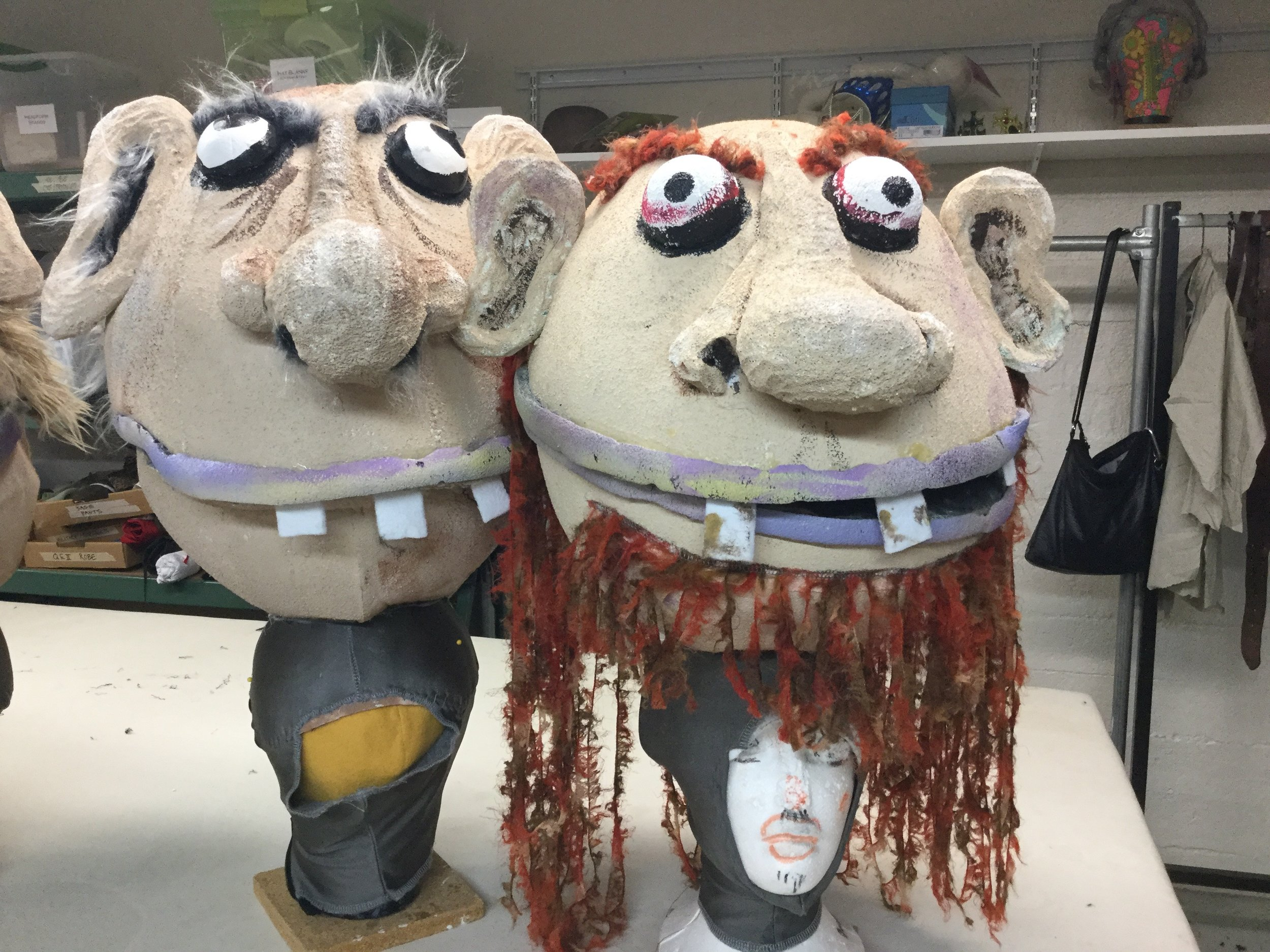 Two of the Giant Heads for BFG