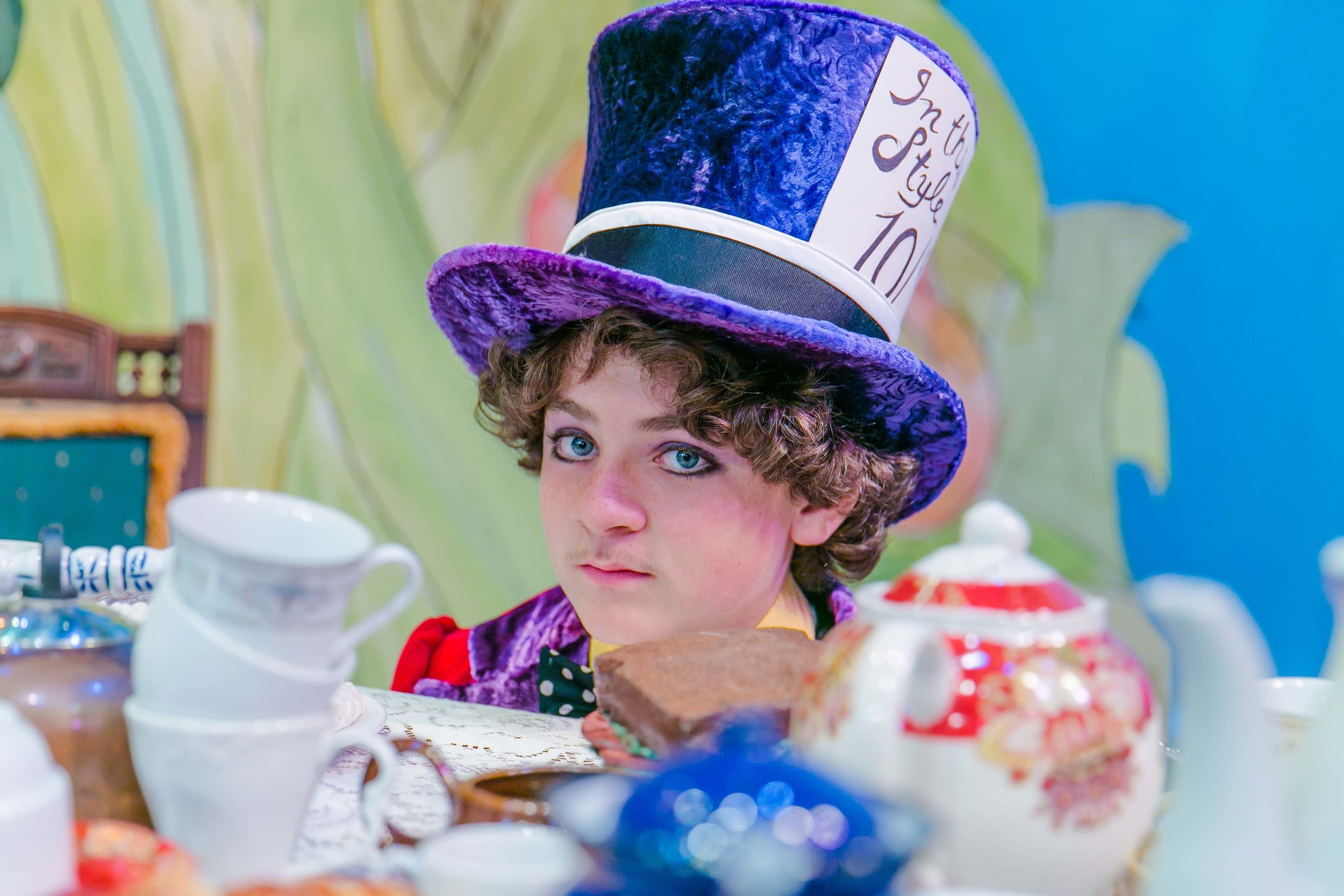 Costumes and Hat by Jennifer Gonsalves  Palo Alto Children's Theatre  Alice in Wonderland, 2014  Photo by Tina Case
