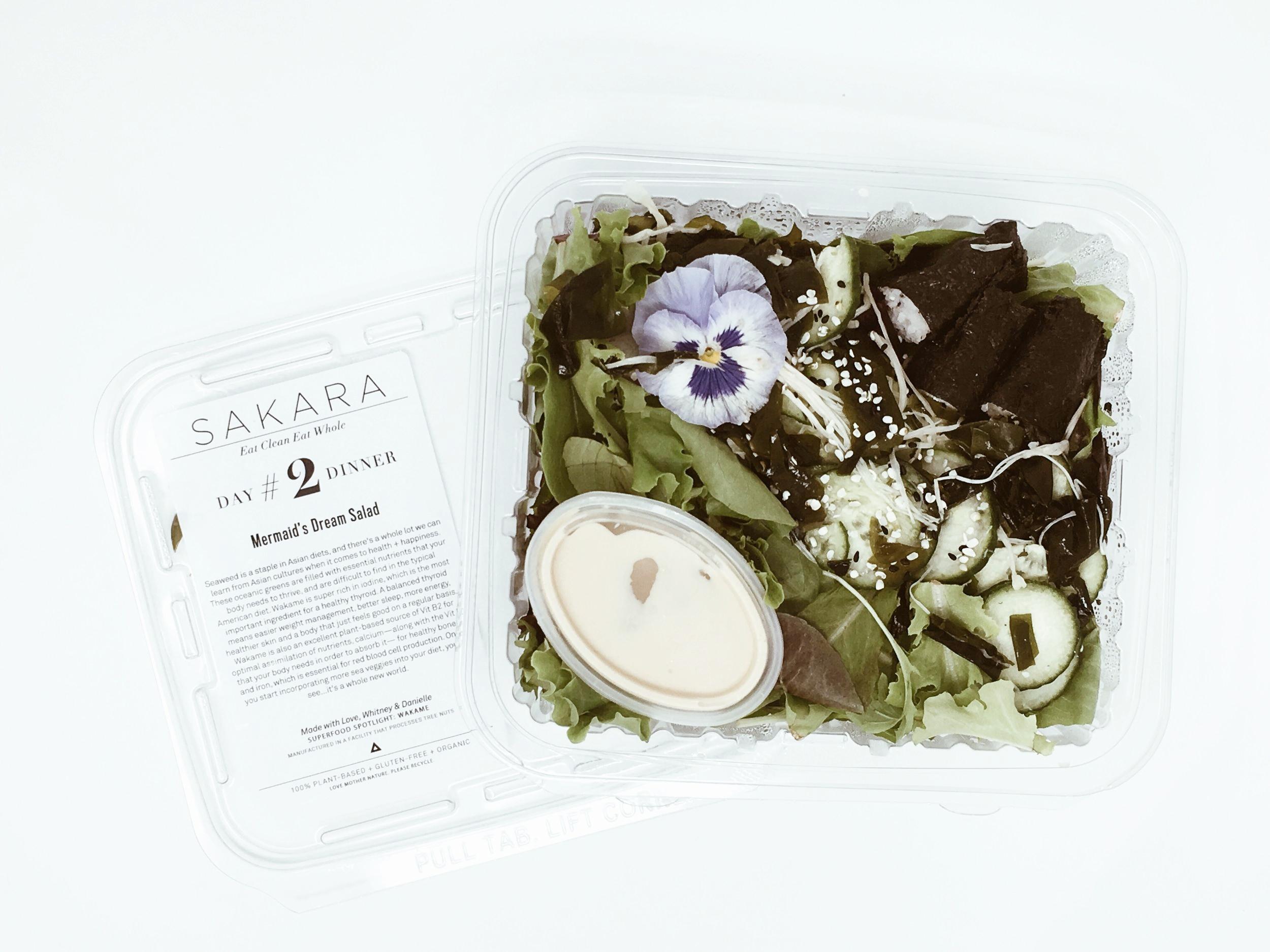 mermaids dream salad sakara menu