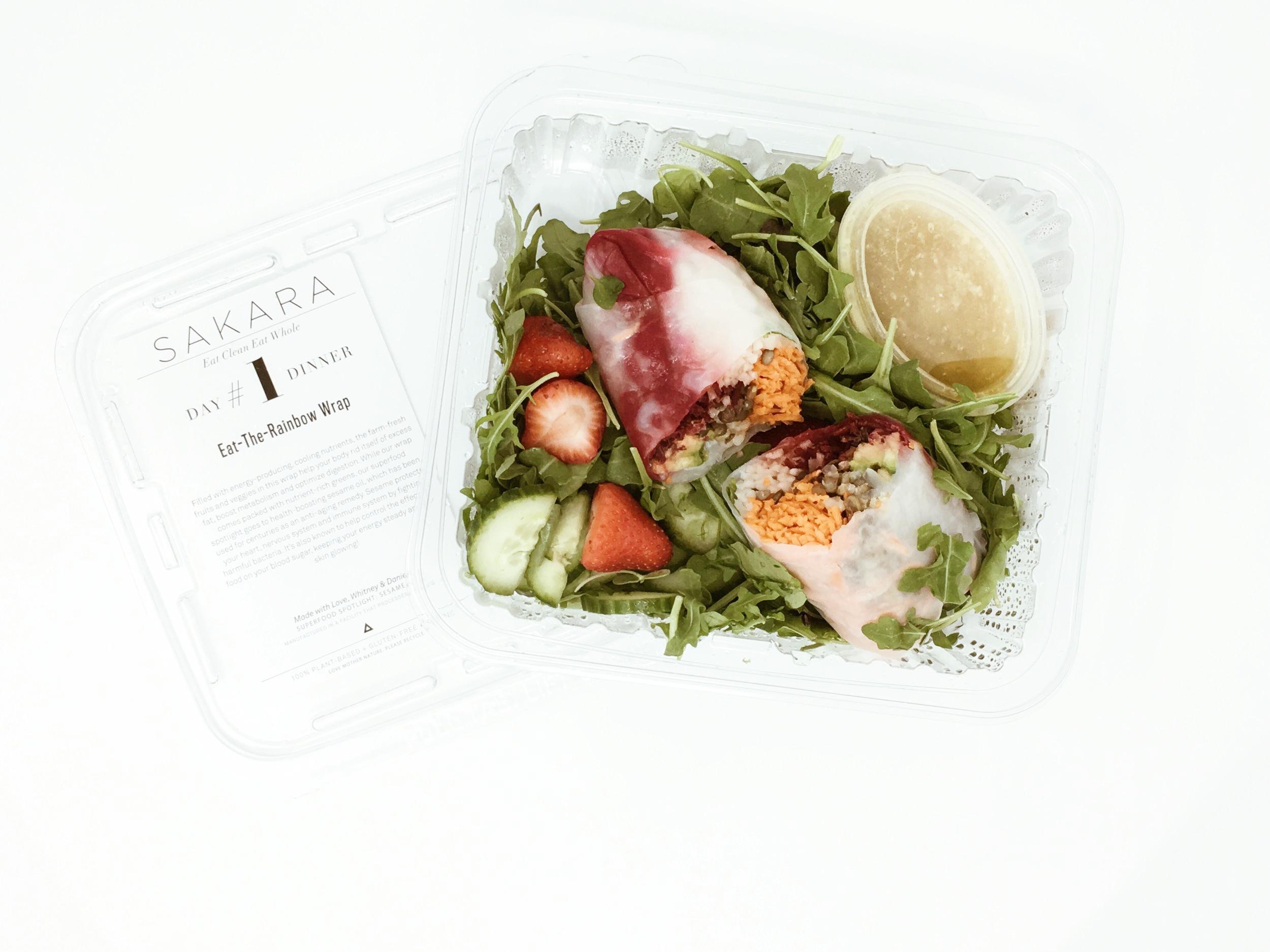 eat the rainbow wrap sakara menu