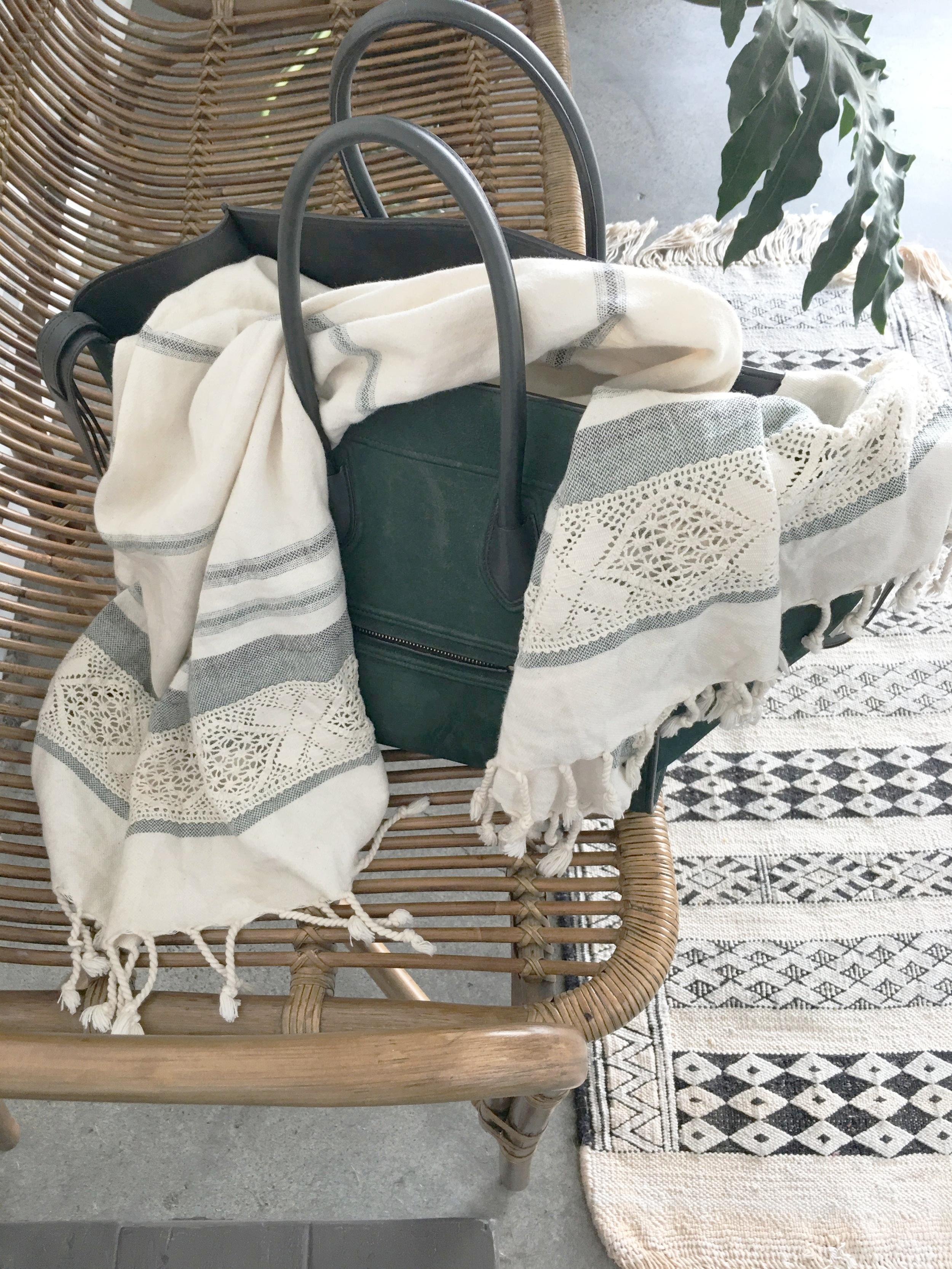 Copy of designer purse luxury towel