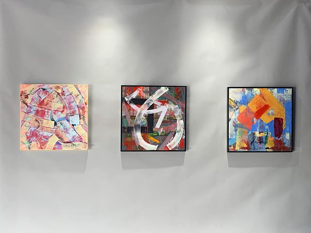 Works by Hank Schuyler on display at our recent show. For more info on Hank Schuyler or to purchase a work of art visit the link in our bio!