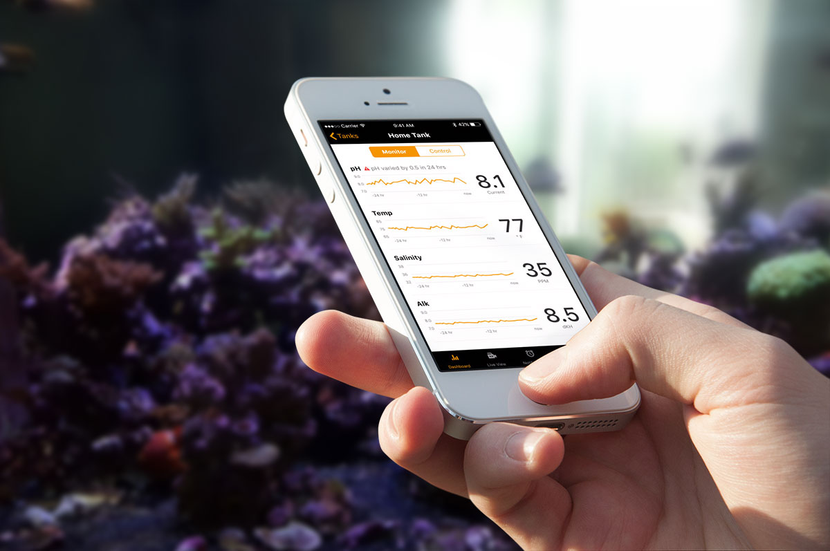 Neptune's Apex Systems - Updated HIG compliant mobile app for aquarium control and monitoring.