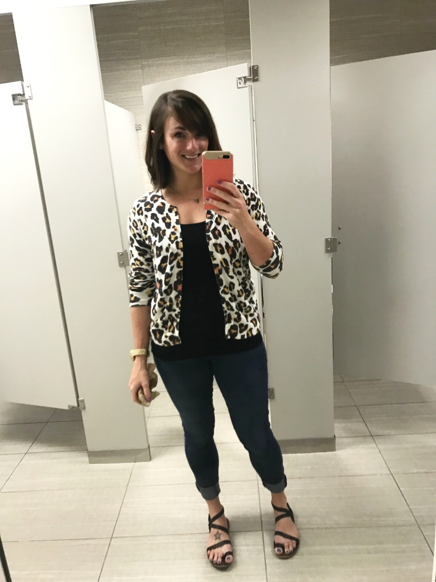 I took this picture last Friday - you know I'm feeling pretty good when I have to stop and take a bathroom selfie.