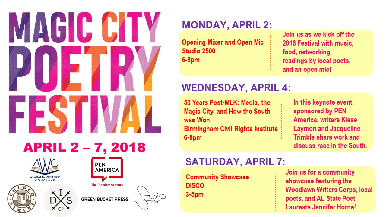 2018 Magic City Poetry Festival — Alabama Writers Conclave
