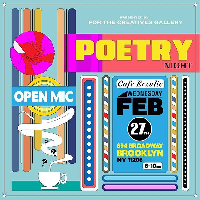 Tonight, come by for some poetry. Poets will be sharing their work from 8pm-10pm! This is a free event!