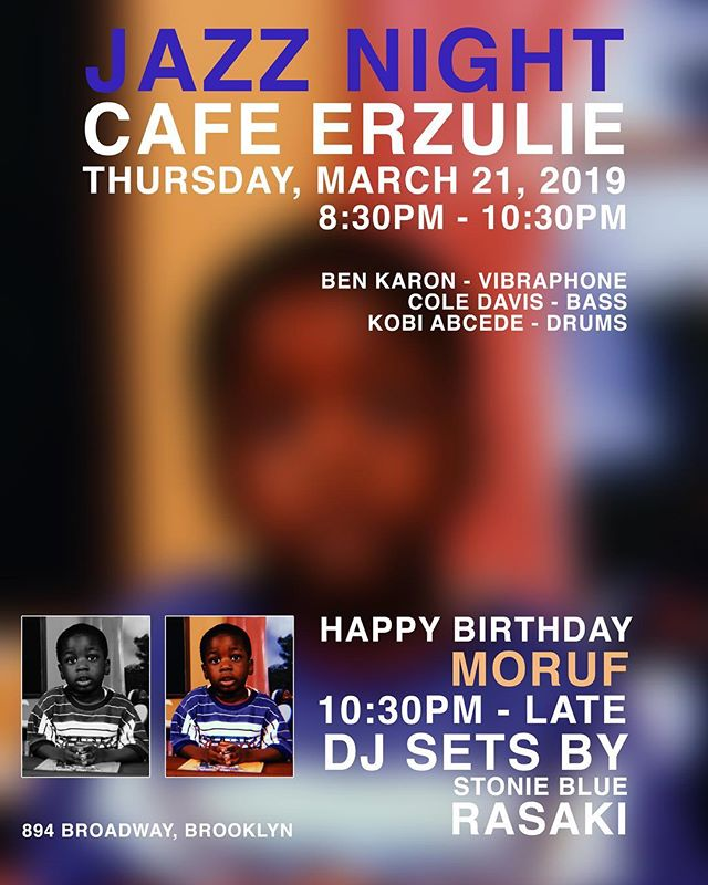 TONIGHT, pull up and listen to some Jazz from 8pm-10pm. Then, from 10pm-late, we're celebrating the life of the ever so talented @moruf88. Catch special DJ sets by @antbluejr & @_rasaki